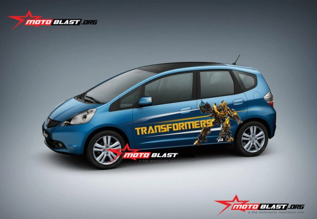 honda jazz biru - bumble bee-1