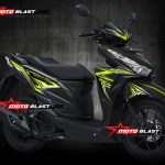 Modif striping Honda Vario 150Esp Black thunder green lemon motoblast