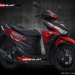 Modifikasi Honda Vario 150Esp Black Thunder
