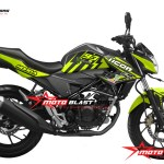 modifikasi striping honda new cb150r black green lemon thunder ICON motoblast