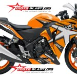 modifikasi honda cbr250r star orange jos