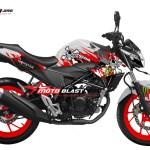 2 CB150R WHITE RED SKULL monster motoblast
