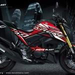 modifikasi striping XABRE NEW STYLE motoblast