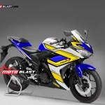 yamaha R25 blue motoblast