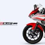 YAMAHA R25 DRAGON white red motoblast