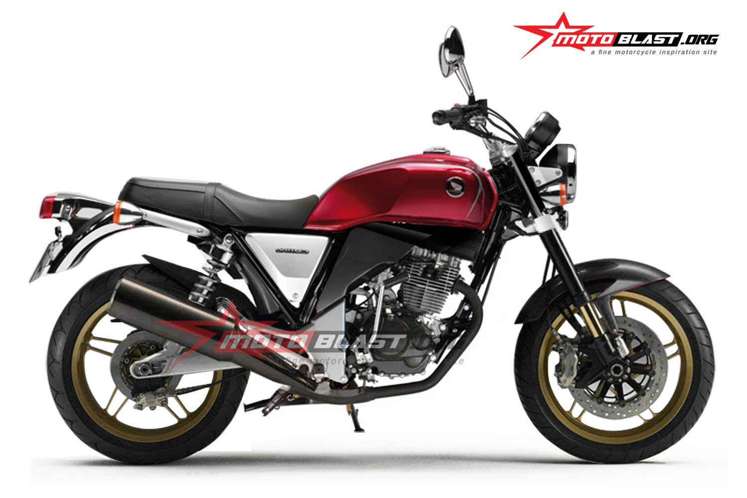 Modifikasi Honda Tiger Cafe Racer Retro Style