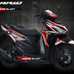 Inspirasi modifikasi Graphic kit VARIO 150 BLACK Fresh WHITE red sporty