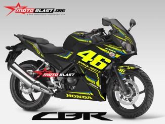CBR250R BLACK VR46 PROJECT