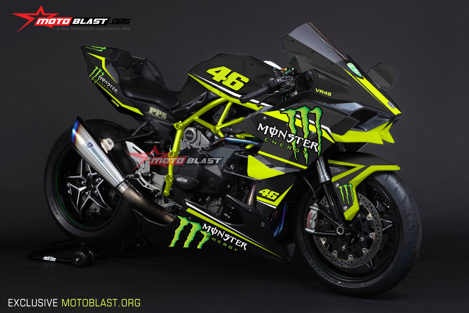 KAWASAKI H2R BLACK-MONSTER
