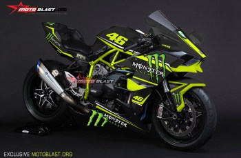 Moge Series Graphic Kit Kawasaki Ninja H2R Black Monster