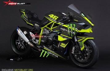 Moge Series Graphic Kit Kawasaki Ninja H2R Black Monster