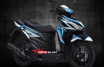 Graphic Kit Honda Vario 125/150Esp Black Fresh blue white sporty