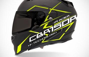 Graphic Kit Helmet Black full face – I'm CBR150R Rider