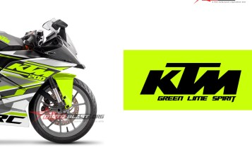 Modifikasi Striping KTM RC 200 White Green Spirit