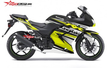 Graphic kit Kawasaki Ninja 250R Karbu Black Yellow
