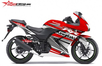 Graphic Kit Kawasaki Ninja 250r Karbu Red Sporty
