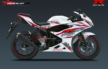 HOT First in the world – Modifikasi Striping Suzuki GSX-125R White!