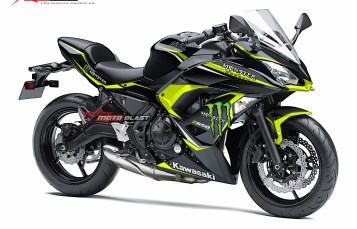 Modifikasi Striping Kawasaki Ninja 650 2017 Black Monster