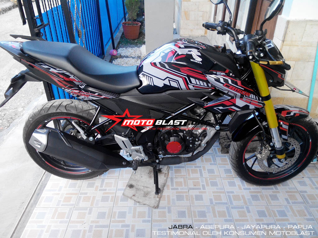 MEGA GALLERY Modifikasi Striping Honda New CB150R MOTOBLAST