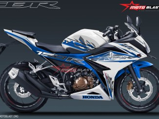 ALL NEW CBR150R SPECIAL EDITION MOTOBLAST-white blue