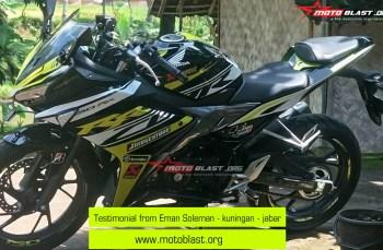 Testimonial New CBR150R Black Yellow RC! Keren maksimal