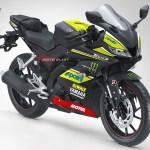 inilah modifikasi pertama kali all new yamaha r15 black matte - monster tech3