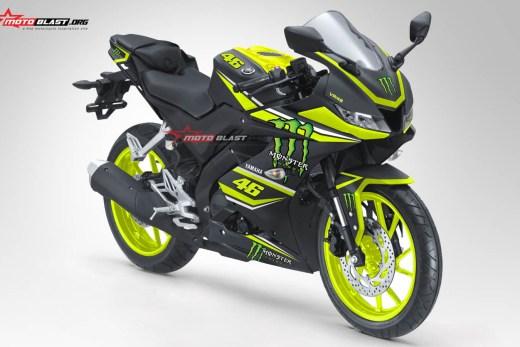 inilah modifikasi striping all new yamaha r15 black monster energy