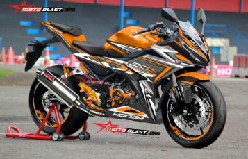 Modifikasi Striping All new CBR150R Flash style