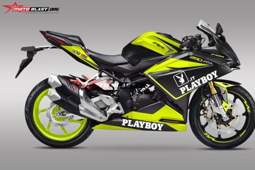 7CBR250RR PLAYBOY DOFF BLACK-green lime2