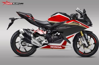 Modifikasi striping All New Honda CBR250RR fireblade black version
