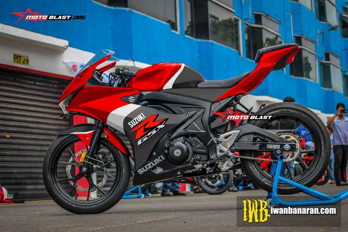 modifikasi striping suzuki gsx  red sporty motoblast
