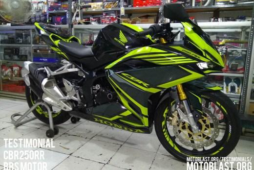 testimonial cbr250rr black green lime carbon bbs motor - motoblast2