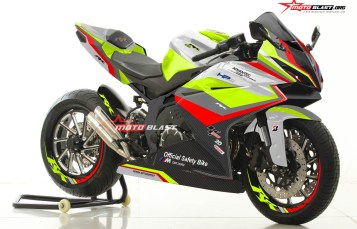 Modifikasi Striping Honda New CBR250RR Black Safety Car Motogp Gree Lime Version