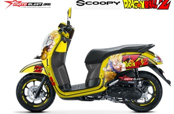 Modifikasi Striping All new Scoopy Dragon ball Z Son Goku