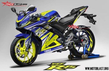 Modifikasi striping All New Yamaha R15 Blur RC Yellow