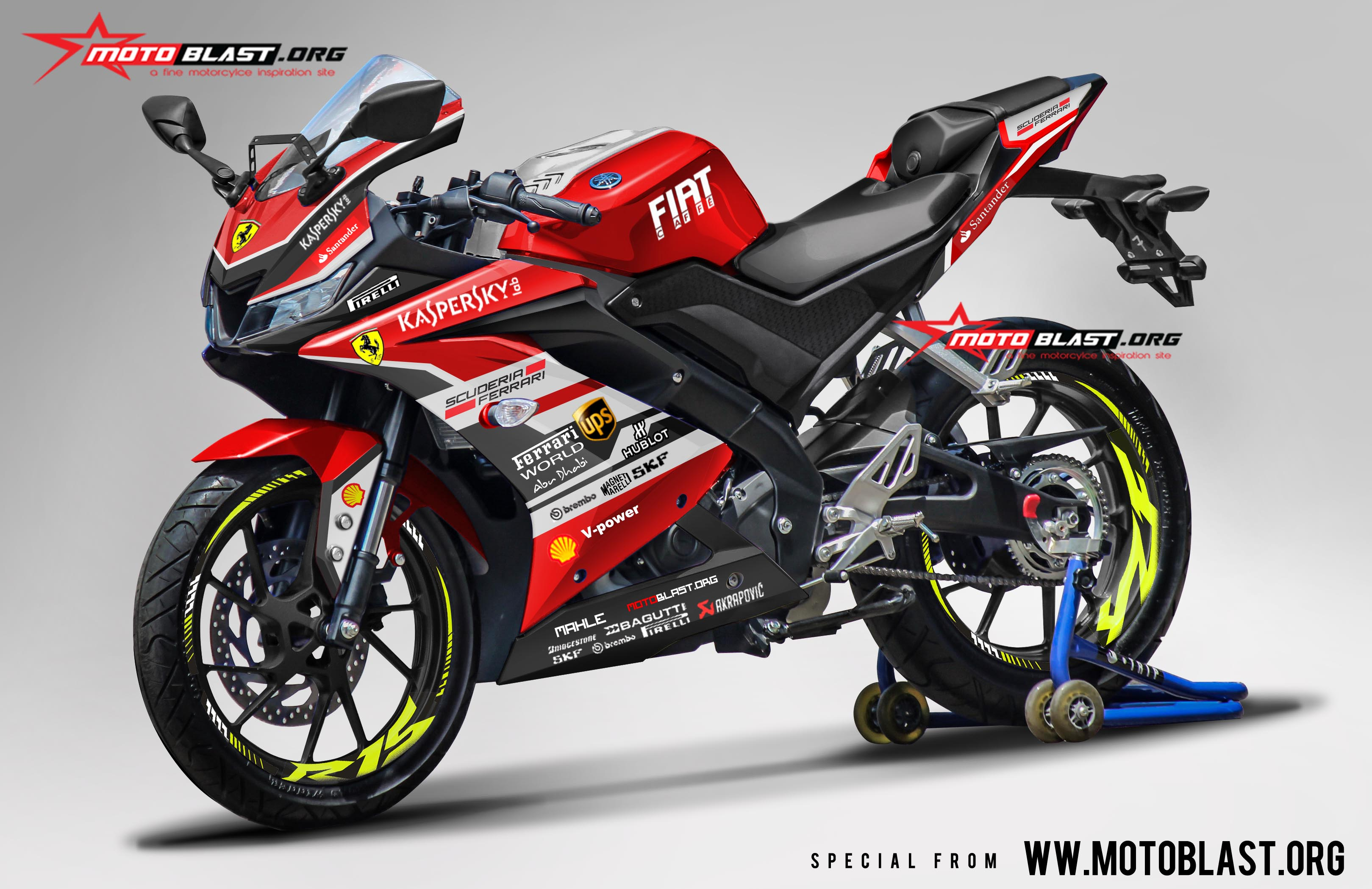 Red Yamaha R Decals