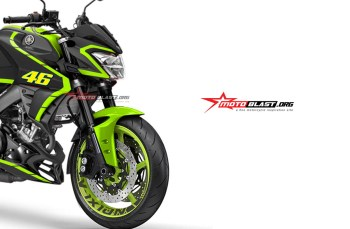 Modifikasi striping Yamaha All new Vixion R Black VR46