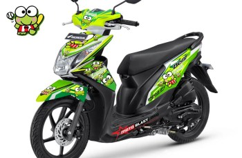 Modifikasi Striping Honda Beat FI tema Keroppi