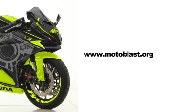 Modifikasi Striping Honda New CBR250RR Black Sunmoon Wintertest VR46