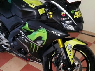 All New Yamaha R15 V3 black ala Movistar motogp 2017