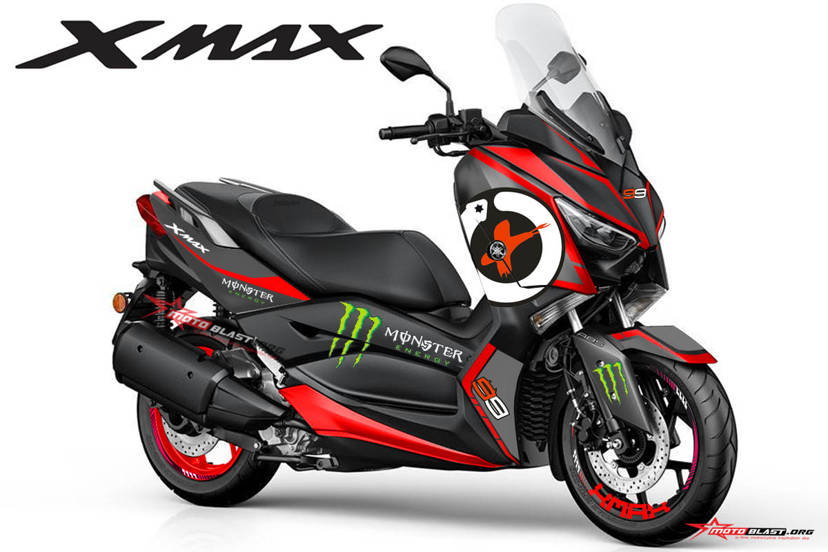 modifikasi striping yamaha xmax  jorge lorenzo