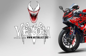Modifikasi Striping Yamaha All New Yamaha R15 V3 Black Red Venom