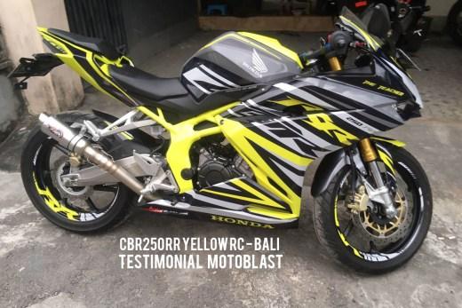 TESTIMONIAL MOTOBLAST - CBR250RR YELLOW RC3