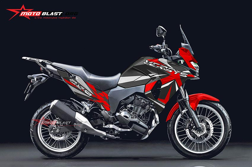 Modifikasi Striping Kawasaki Versys250 Sporty X