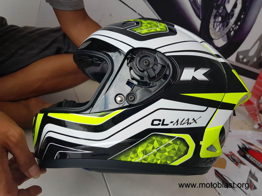 Modifikasi Stiker Decal Helm Ink CL Max Dan New Vixion
