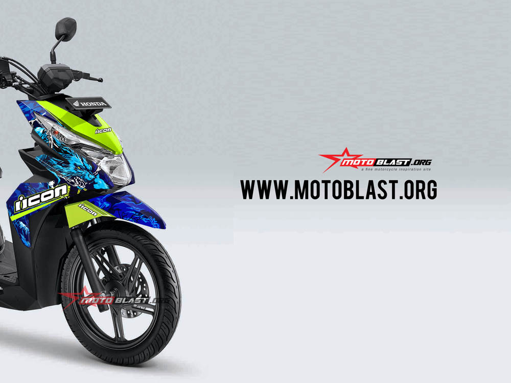 Modifikasi Striping Honda Beat Street Icon Thriller Motoblast