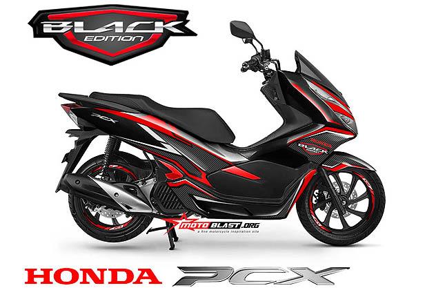NEW PCX 150-black edition carbon3b