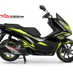 NEW PCX 150-black edition carbon -yellow