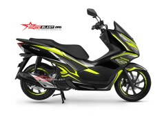 NEW PCX 150-black edition carbon -yellow3
