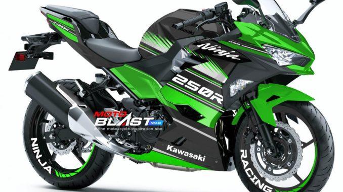 Kawasaki Ninja 250R 2018- GREEN WSBK1